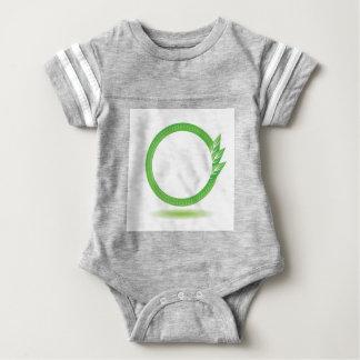 87Greewn Label_rasterized Baby Bodysuit