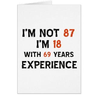 87th birthday designs card