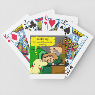 881 Pee o'clock in the morning cartoon Bicycle Playing Cards