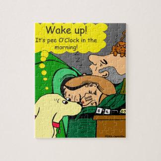 881 Pee o'clock in the morning cartoon Jigsaw Puzzle