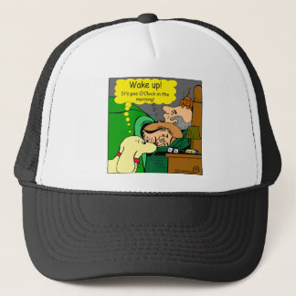 881 Pee o'clock in the morning cartoon Trucker Hat