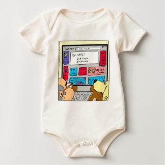 883 Search engine diagnosis cartoon Baby Bodysuit
