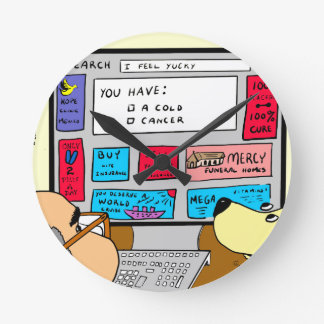 883 Search engine diagnosis cartoon Clock