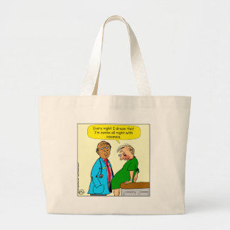884 Dream I have insomnia cartoon Large Tote Bag