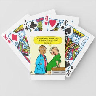 884 Dream I have insomnia cartoon Poker Deck