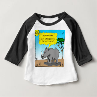 886 rhino tickle cartoon baby T-Shirt