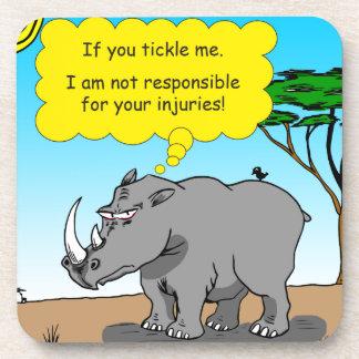 886 rhino tickle cartoon coaster
