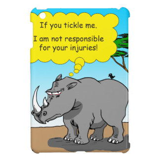 886 rhino tickle cartoon iPad mini cover