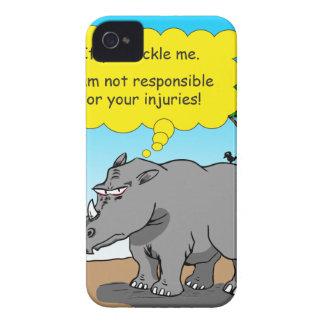 886 rhino tickle cartoon iPhone 4 covers