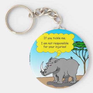 886 rhino tickle cartoon keychain