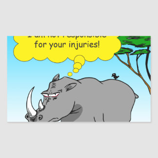 886 rhino tickle cartoon sticker
