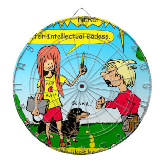 887 nerd wins argument cartoon dartboard
