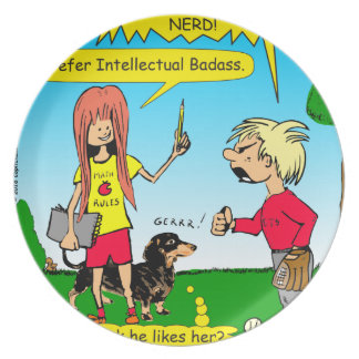887 nerd wins argument cartoon dinner plate