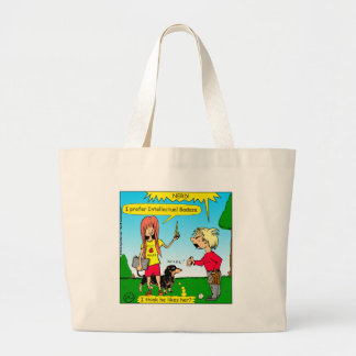887 nerd wins argument cartoon large tote bag