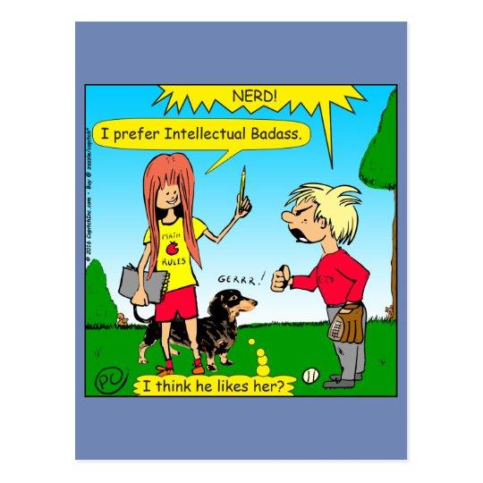 887 nerd wins argument cartoon postcard