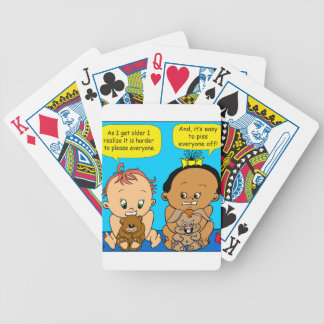 888 As I get older baby cartoon Bicycle Playing Cards