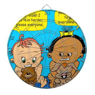 888 As I get older baby cartoon Dartboard