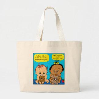 888 As I get older baby cartoon Large Tote Bag