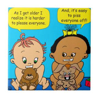 888 As I get older baby cartoon Tile