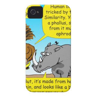 889 Rhino phallus cartoon iPhone 4 Covers