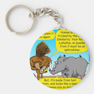 889 Rhino phallus cartoon Keychain
