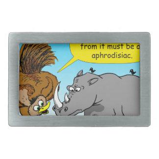 889 Rhino phallus cartoon Rectangular Belt Buckle