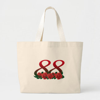88  88th birthday number large tote bag