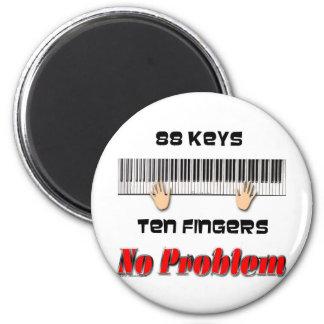 88 Keys Ten Fingers Magnet