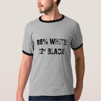 """88% WHITE12"""" BLACK T-SHIRT"""