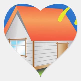 88House_rasterized Heart Sticker