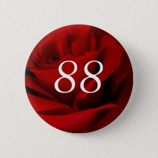 88th Birthday 2 Inch Round Button