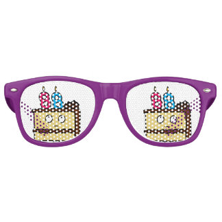 88th Birthday Cake with Candles Retro Sunglasses