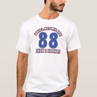 88th year old birthday designs T-Shirt