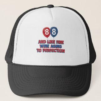 88th year old birthday designs trucker hat