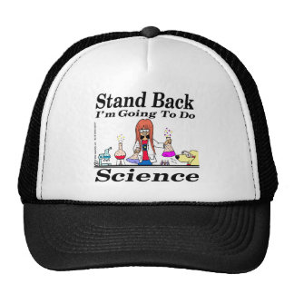 890 stand back l'm going to do science cartoon trucker hat