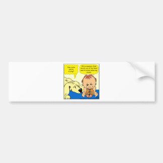891 Memory tear cartoon Bumper Sticker