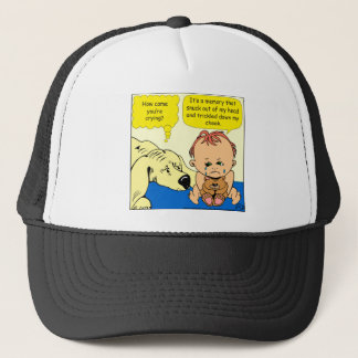 891 Memory tear cartoon Trucker Hat