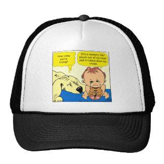 891 Memory tear cartoon Trucker Hat