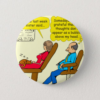 892 Private thought bubble therapist cartoon 2 Inch Round Button