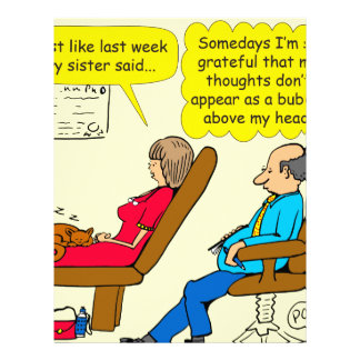 892 Private thought bubble therapist cartoon Letterhead