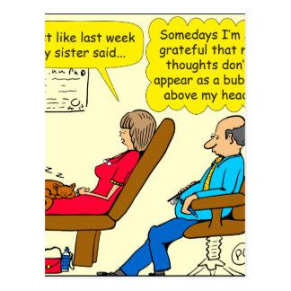 892 Private thought bubble therapist cartoon Postcard