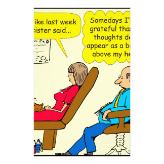 892 Private thought bubble therapist cartoon Stationery