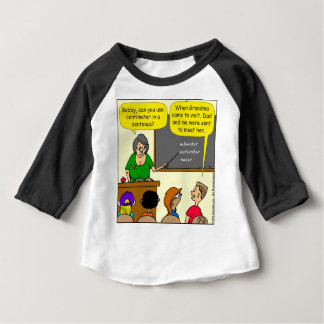 893 Centimeters play on word school cartoon Baby T-Shirt