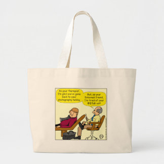 894 tired of your cat cartoon large tote bag