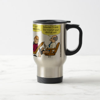 894 tired of your cat cartoon travel mug