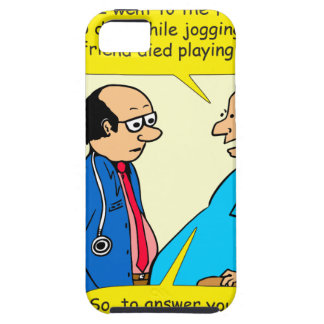 897 I don't exercise doctor patient cartoon Case For The iPhone 5