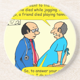 897 I don't exercise doctor patient cartoon Drink Coasters