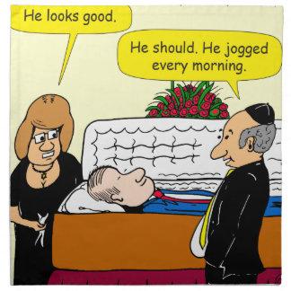 898 He looks good funeral cartoon Napkin