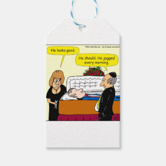 898 He looks good funeral cartoon Pack Of Gift Tags