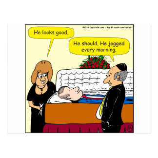 898 He looks good funeral cartoon Postcard
